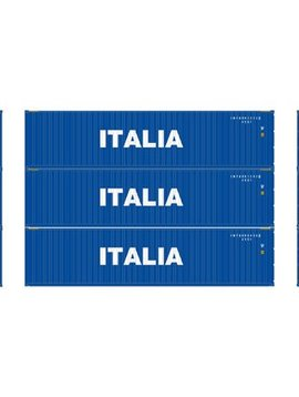 Atherns ATH29182 HO RTR 40' Corrugated Containers, Italia #1 (3)