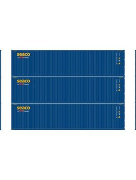 Atherns ATH29188 HO RTR 40' Corrugated Containers, Seaco #1 (3)