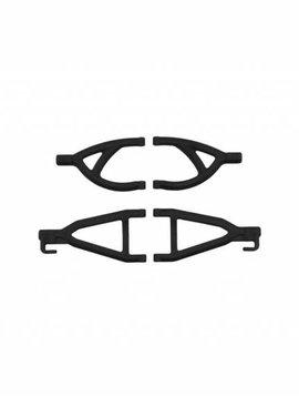 RPM Rear Up/Low A-arms, Black:1/16 ERV