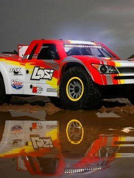 Losi 1/6 Super Baja Rey 4WD Desert Truck Brushless RTR with AVC, Red (LOS05013T2)