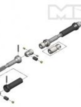 MIP MIP X-Duty C-Drive Kit:Ascender,K10,K5,Ford Bronco