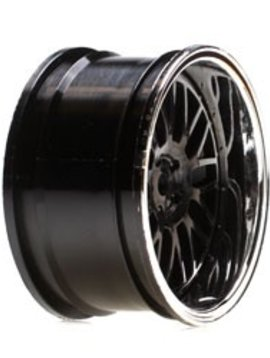 Vattera VTR43004 Wheel RR 54 x 30mm Deep Mesh, Chrome/Blk (2): V100