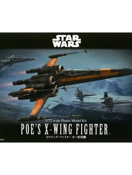 Bandai BAN210500 1/72 Poe's X-Wing Fighter Star Wars Force Awaken