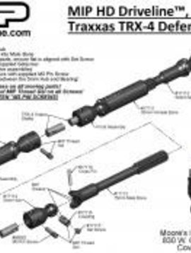 MIP MIP17110 HD Driveline Kit :TRX-4 Defender