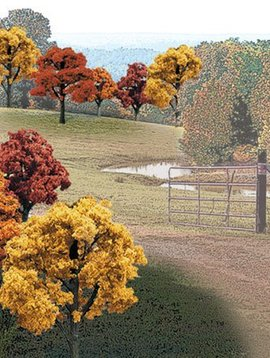 "Woodland Scenics WOOTR1576 Value Trees, Fall Mix 2-3"" (23)"