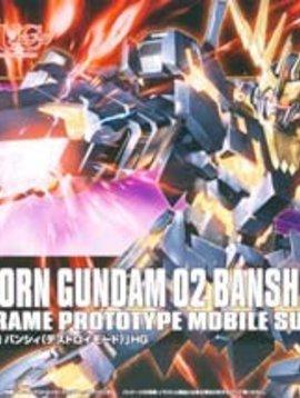 Bandai BAN173901 1/144 #134 Unicorn Gundam 02 Banshee HG