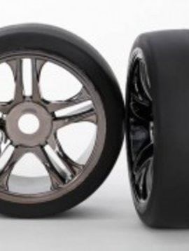 Traxxas TRA6477 Tires/Whls Assembled Blk Chrm Re XO-1 (2)