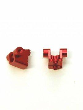 STRC ST8227RR Aluminum Rear Lower Shock Mounts TRX-4 Red
