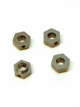 STRC ST8269GM CNC Mach Alum Wheel Hex Adaptr 4pcs for Traxxas TRX-4 Gunmetal