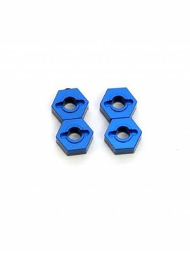STRC ST1654B CNC Mach Alum Hex Adapters Slash 4x4 Blue