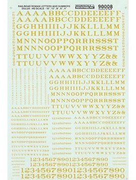 MSI MSI90008 HO Letters & Numbers, Roman/Dulux