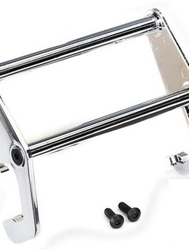 Traxxas 8066 - Push bar, bumper (chrome) (fits #8069 bumper)