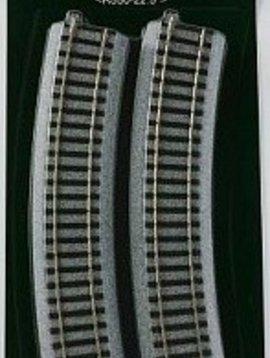 """Kato KAT2210 HO 550mm 21-5/8"""" Radius Curve 22.5-Degree (4)"""