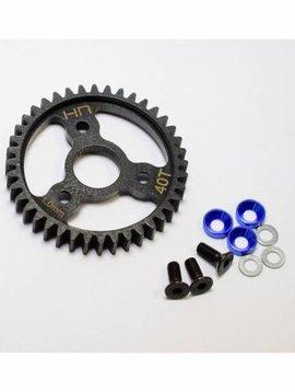 HRA SRVO440 Steel Spur Gear 40T 1.0 Mod Traxxas Blue
