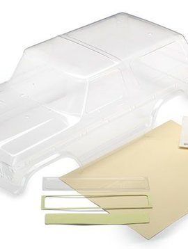 Traxxas TRA8010 - Body, Ford Bronco (clear, requires painting)/ decals/ window masks/ tailgate panel insert/ adhesive foam tape (2)