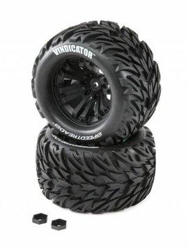 Dynamite DYNW0022 SPEEDTREADS Vindicator 1/10 ST/MT Tires MNTD (2)