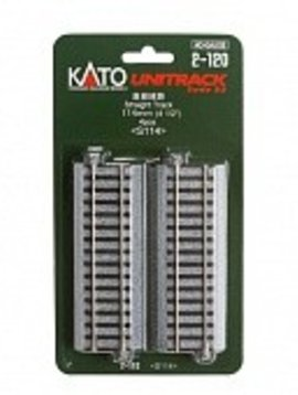 "Kato KAT2120 HO 114mm 4-1/2"" Straight (4)"