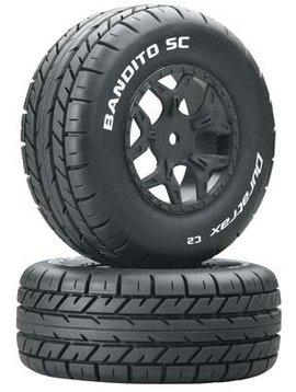 Duratrax DTXC3703 Bandito SC Tire C2 Mntd Losi Ten SCTE 4x4 (2)