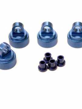 ST Racing Concepts CNC Machined Alum. Shock Caps for Traxxas 4Tec 2.0 (Blue)