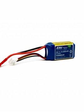 E-flite EFLB3003SJ30 E-flite 300mAh 3S 11.1V 30C LiPo, JST