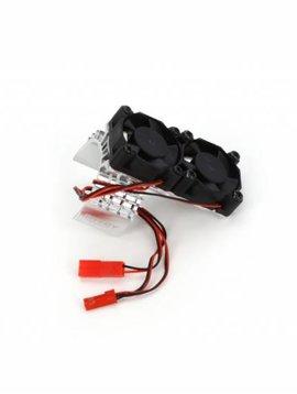 INT INTT8534S Motor Heatsink / Twin Fan, Silver: Slash 4X4