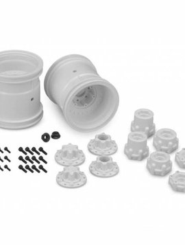 "J Concepts Midwest 2.2"" MT 12mm Hex Wheel w/ Adaptors  (White)  2pc."