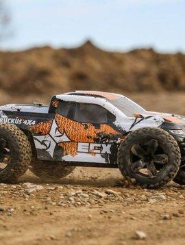 ECX 1/10 Ruckus 4WD Monster Truck Brushed RTR, Orange/White (ECX03242T1)