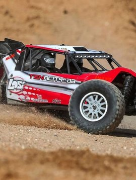 LOS 1/10 TENACITY-DB 4WD Desert Buggy RTR with AVC, Red/Grey (LOS03014T1)