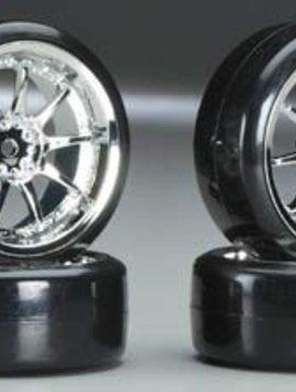 Integy INTC23244 Type V Complete Wheel/Tire Set Drift Racing (4)