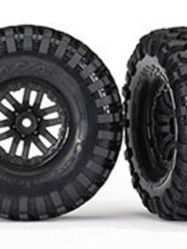 Traxxas TRA8272 TRX-4 wheels, Canyon Trail 1.9 tires (2) Assembled, Glued