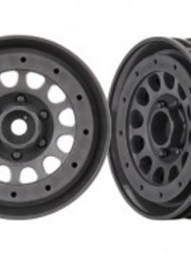 "Traxxas TRA8173A Wheels, Method 105 1.9"" (charcoal gray, beadlock) (beadlock rings sold separately)"