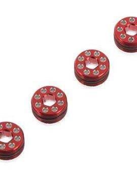 HRA AON21N02 Aluminum Delrin Cap Hub Nut Red Arrma 1/8
