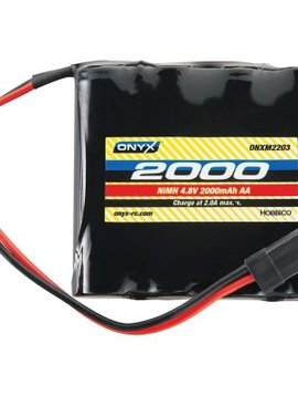 onyx ONXM2210 Onyx NiMH 4.8V 2000mAh AA Flat Receiver Universal Plug