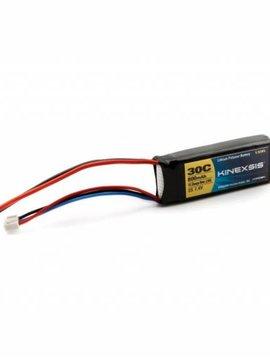 Kinexsis KXSB0009 7.4V 800mAh 2S 30C LiPo, 18AWG, JST