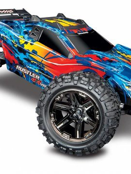 Traxxas 67076-4 RUSTLER 4X4 VXL - RED, YELLOW