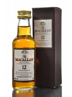 The Macallan 12 Year Single Malt Scotch Whisky, Highlands, Scotland (50ml)