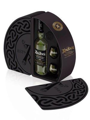 Ardbeg 10 Year Single Malt Scotch Whisky Gift Set, Islay, Scotland (750ml)