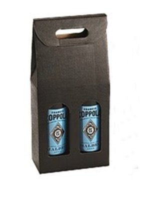 Double Black Cardboard Gift Box