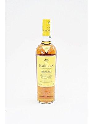 The Macallan Single Malt Scotch Whisky 'Edition No. 3', Highlands, Scotland (750ml)