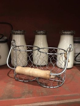 Milkhouse Candles Milkhouse Farmhouse Wire Milk Bottle Basket