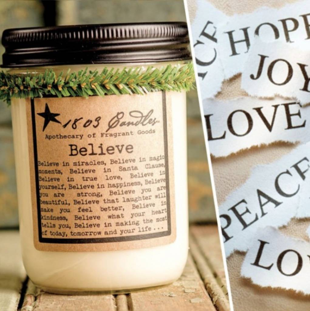 1803 Candles 1803 Believe Candle