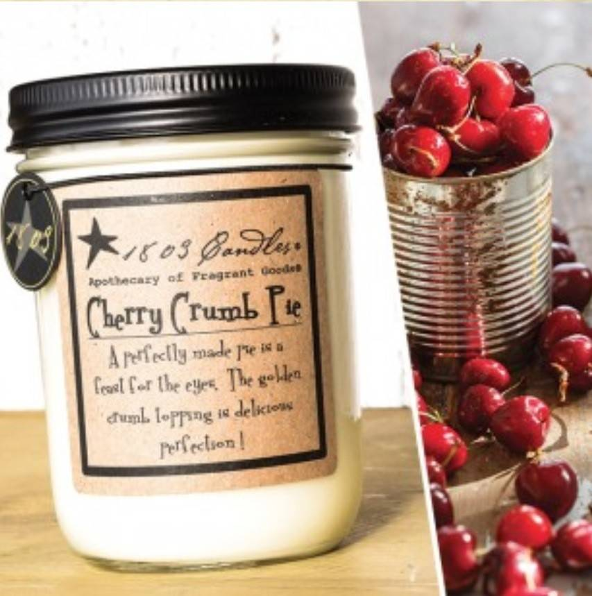 1803 Candles 1803 Cherry Crumb Pie Candle