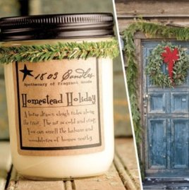 1803 Candles 1803 Homestead Holiday Candle