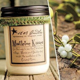 VHC Brands 1803 Mistletoe Kisses Candle
