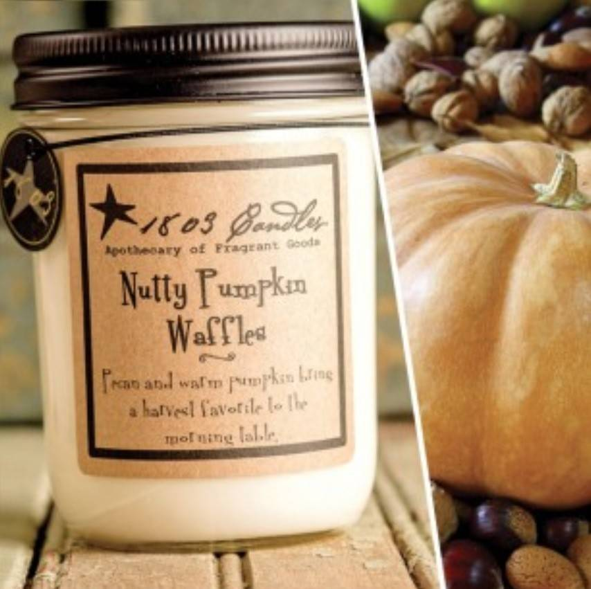1803 Candles 1803 Candle  Nutty Pumpkin Waffles 14oz