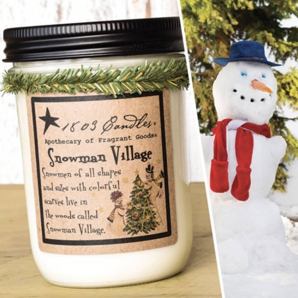 1803 Candles 1803 Candle Snowman Village 14oz
