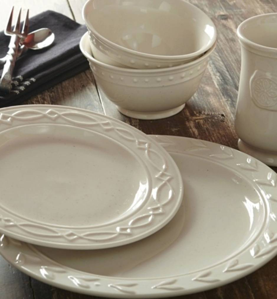 Levingston Dinner Plate & Levingston Dinner Plate Set of 4 - Country Farmhouse Kitchen ...