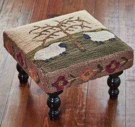 Willow & Sheep Hooked Stool