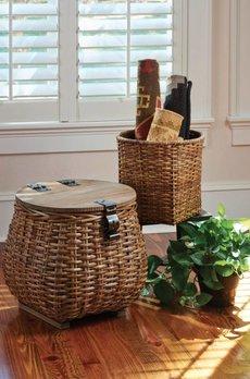 Covered Basket Set of 2