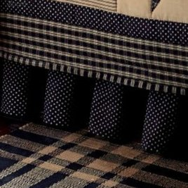 Park Designs Sturbridge Patch Bed Skirt - Black